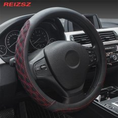 Review Reizsz High Grade Microfiber Leather Viscose Fibre Luxury Car Steering Wheel Cover Universal Protect Case For Car 38Cm 15 Inch M Size Intl Oem