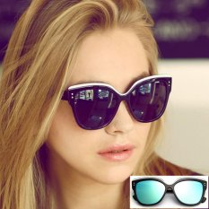 Best Rated Retro Classic Fashion Cat Eye Sunglasses Uv400 Bright Black Women Noble Elegant Sunglasses Plastic Frame Intl