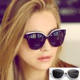 How To Buy Retro Classic Fashion Cat Eye Sunglasses Uv400 Women Noble Elegant Sunglasses Plastic White Frame Grey Lens Intl