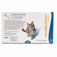 Revolution Flea & Heartworm Prevention For Cats - 3 Doses By Singpet.