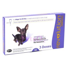 Price Revolution Spot On For Dogs 2 6 5Kg 3 Doses Revolution New