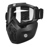 Riding Detachable Modular Face Mask Shield Goggles For Motorcycle Helmet Intl Compare Prices