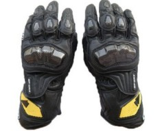 RS-TAICHI RST047 Racing Gloves Motorcycle Gloves Motorcycle Gloves Long Drop(Color:Black)(Size:L) - intl