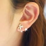 Latest S925 Pure Silver Korean Fashion Pearl Diamond Antianaphylaxis Earring Intl