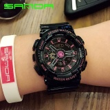 Review Sanda Brand Solid Color Strap Double Display Double Needle Electronic Watch 29201 Intl China