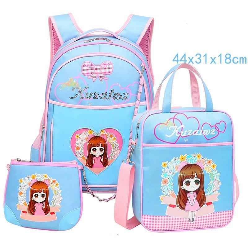 Schoolbag, schoolgirl, girl, girl, and girl on her shoulders, pack 6-12 years old Backpack - intl