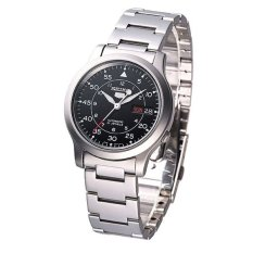 Seiko Men's 5 Automatic Silver Stainless Steel Band Watch SNK809K1