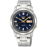 Buy Seiko 5 Men S Silver Stainless Steel Strap Watch Snkk11K1