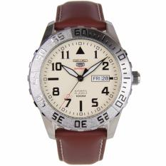 Seiko 5 Sports Automatic Brown Leather Strap Mens Watch SRP757 SRP757K1