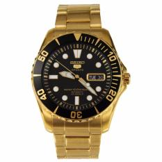 Price Seiko 5 Sports Japan Made Automatic Men S Gold Tone Stainless Steel Band Watch Snzf22J1 Online Singapore