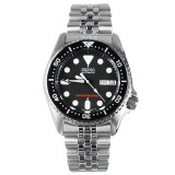Sale Seiko Skx013K2 Scuba Diver Jubilee Men Analog Stainless Steel Sport Black Watch On Singapore