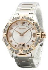 Seiko Lord Quartz Crystals White Dial Women S Two Tone Stainless Steel Strap Watch Sur804P1 Coupon