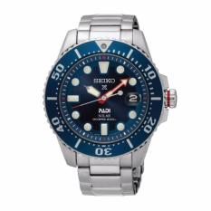 Seiko Prospex and PADI Solar Air Diver Special Edition Silver Stainless Steel Band Watch SNE435P1