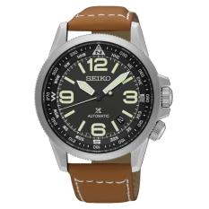 Best Price Seiko Prospex Land Series Automatic Brown Leather Strap Watch Srpa75K1