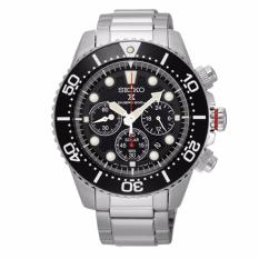 Seiko Prospex Solar Chronograph Diver S Stainless Steel Band Watch Ssc015P1 Free Shipping