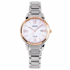 Get Cheap Seiko Solar Rose Gold Bezel Mother Of Pearl Watch Sut326 Sut326P1