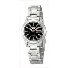 Seiko Women's SYMD95 Seiko 5 Automatic Black Dial Stainless-Steel Bracelet Watch  (EXPORT)  - Intl