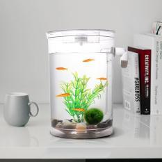 Sale Self Cleaning Plastic Fish Tank Desktop Aquarium Betta Fishbowl For Office Home Decor Intl Oem Wholesaler