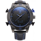 Buy Cheap Shark Men S Led Date Day Alarm Digital Analog Quartz Sport Black Leather Band Wrist Watch Sh265