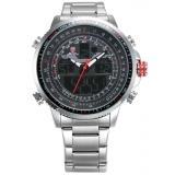 Deals For Shark Men S Sport Digital Analog Quartz Day Date Display Alarm Stainless Steel Wrist Watch Sh325