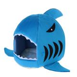 Sale Shark Shape Dog Kennel Bed Blue Intl Online Singapore
