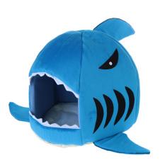 Low Cost Shark Shape Dog Kennel Bed Blue Intl