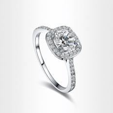 Shinning Zircon Big Square Finger Wedding Engagement Ring 8 - Intl By Joomia.