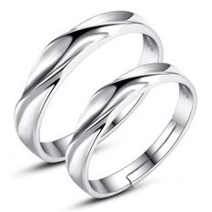 b39fc7b8714 Silver Adjustable Couple Rings Jewelry Affectionate Lovers Rings E008