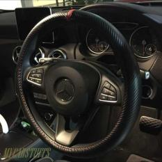 Compare Price Size M Matt Carbon Fibre Red Ring Steering Wheel Cover Oem On Singapore