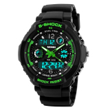 Skmei 0931 Men S Digital Led Quartz Military Sports Watch Green L Intl Price