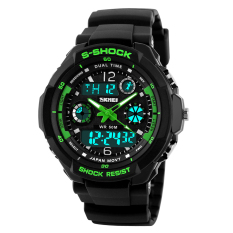 Skmei 0931 Mens Digital Led Quartz Military Sports Watch - Green (l) - Intl By Extreme Deals.