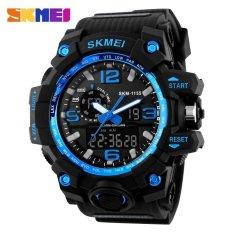 Skmei 1155 Fashion Men Digital Led Display Sport Watches Quartz Watch 50M Waterproof Dual Display Wristwatches Intl Best Price