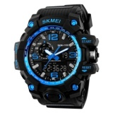 Sale Skmei 1155 Man Sports Watches Led Military Waterproof Wristwatch Men S Quartz Analog Digital Watch Blue Intl