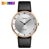Skmei 1263 Watch Multifunctional Sports Large Dial Waterproof Business Watch Rose Gold Shell Silver Face Black Needle Intl Price