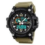 Best Skmei 1283 50M Waterproof Men S Digital Sports Watch With El Light Khaki Intl