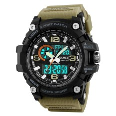 Sale Skmei 1283 50M Waterproof Men S Digital Sports Watch With El Light Khaki Intl On China