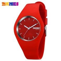 Sale Skmei 9068 Women Fashion Casual Quartz Watches Silicone Strap Sport Watches Intl Skmei Cheap