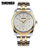 Buy Skmei 9099 Men S Watches Full Stainless Steel Sports Fashion Waterproof Business Watch White Intl Skmei Cheap
