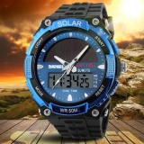 Skmei Brand Watch 1049 Dual Display Wristwatches Fashion Solarpower Dual Time Men Watches Waterproof Sports Wristwatch For Menand Women Intl Online