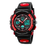 Skmei Children S Watches Fashion Sport Waterproof Wristwatches Dual Time Led Analog Digital Quartz Watch For Boys Kids Original 1163 Black Intl Lower Price