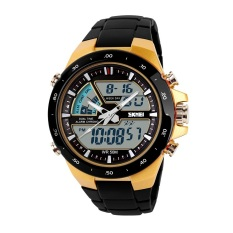 Sale Skmei Men Women Sports Watches Fashion Casual Men S Watch Digital Analog Alarm Waterproof Multifunctional Wristwatches Original 1016 Gold Black Intl Intl Online On China