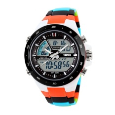Where To Shop For Skmei Men Women Sports Watches Fashion Casual Men S Watch Digital Analog Alarm Waterproof Multifunctional Wristwatches Original 1016 White Black Orange Intl Intl