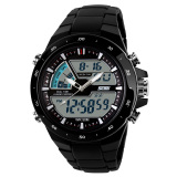 Skmei Men S Sport Led Waterproof Rubber Strap Wrist Watch Black White 1016 Reviews