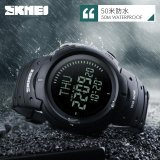 Skmei Outdoor Man Sports Compass Watches Hiking Digital Led Electronic Chronograph Watch Black Intl Lowest Price