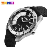 Cheapest Skmei Sports Quartz Watches Men Fashion Casual 30M Water Resistant Watch Silicone Strap Wristwatches 9151 Silver Intl