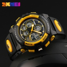 SKMEI Watch 1163 Sports Children Watches Kids For Boys Military Waterproof Wristwatches Dual Display LED Digital