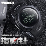 Wholesale Skmei Watch 1231 Outdoor Sports Compass Watches Hiking Men Watch Digital Led Electronic Watch Man Sports Watches Chronograph Men Clock Intl