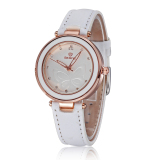 Cheap Skone Women Fashion Rhinestone Watches Casual Dress Quartz Ladies Brand Bracelet Watch White