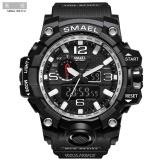 Buying Smael 1545 Pure Color Band Waterproof Sport Watch Digital Analog Dual Display Japan Quartz Watch Silver Intl