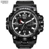 Price Smael 1545 Pure Color Band Waterproof Sport Watch Digital Analog Dual Display Japan Quartz Watch Silver Intl Smael